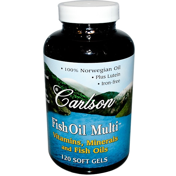Carlson Labs, Fish Oil Multi, 120 Soft Gels (Discontinued Item)