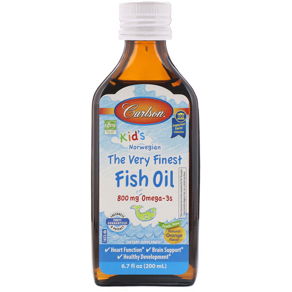 Kid's,Norwegian, The Very Finest Fish Oil, Natural Orange Flavor, 6.7 fl oz (200 ml)