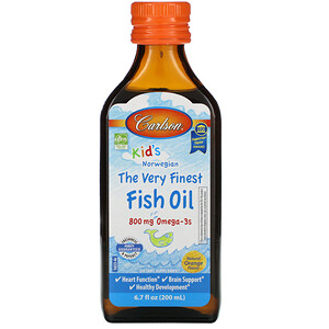 Карлсон Лэбс, Kid's Norwegian, The Very Finest Fish Oil, Natural Orange Flavor, 800 mg, 6.7 fl oz (200 ml) отзывы покупателей