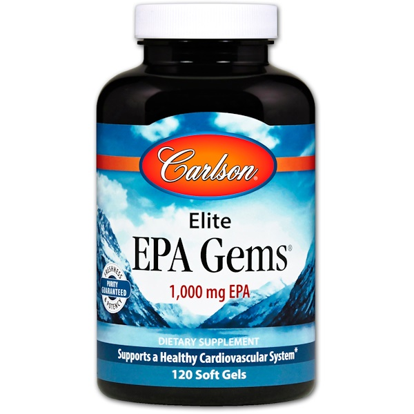 Carlson Labs, Elite EPA Gems, 1000 mg, 120 Soft Gels