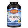 Carlson Labs, Elite Omega 3 Gems, Natural Lemon, 800 mg, 240 Soft Gels
