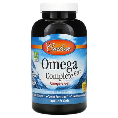 Купить Carlson Labs Omega Complete Gems, 180капсул