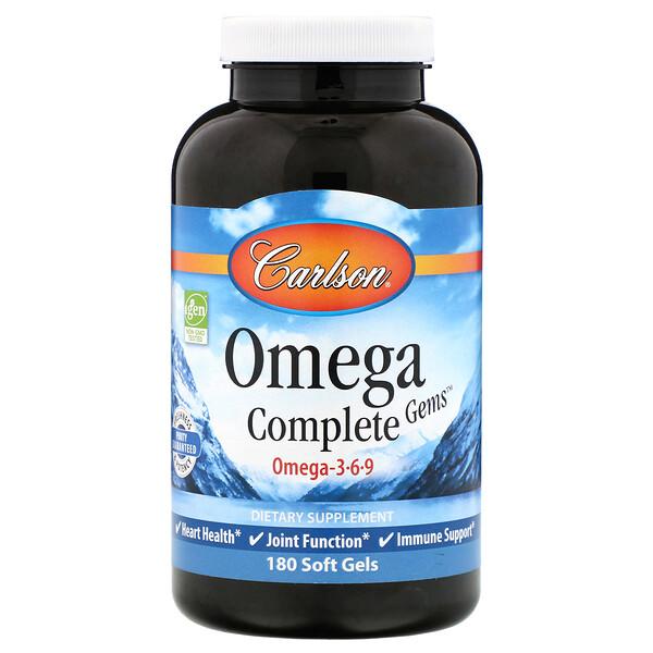 Omega Complete Gems, 180 Soft Gels