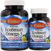 Carlson Labs, EcoSmart Omega-3, Natural Lemon Flavor, 1,000 mg, 90 + 30 Soft Gels