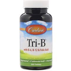 Carlson Labs, 含 B6、B12 和葉酸的 Tri-B,360 片