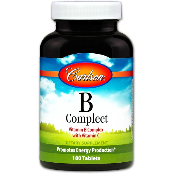 Carlson Labs, B Compleet, 180 Tablets (Discontinued Item)