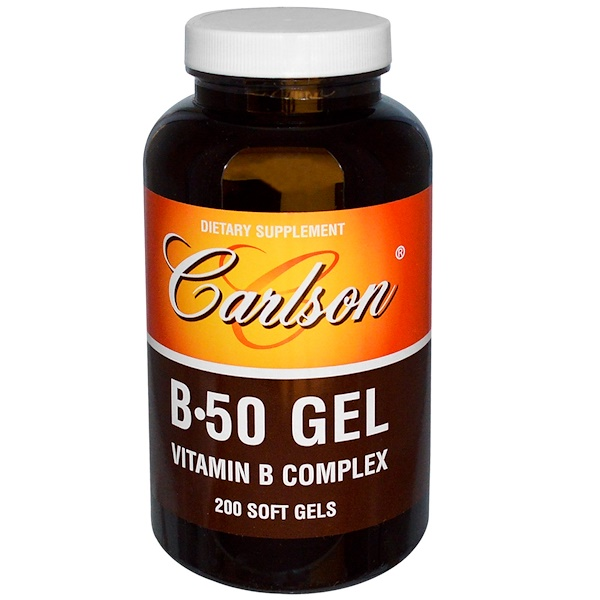 Carlson Labs, 複合維生素B,200粒軟膠囊