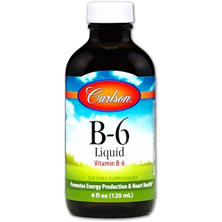 Carlson Labs, B-6 Liquid, 4 fl oz (120 ml)