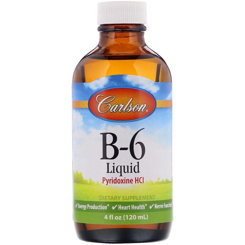 Carlson Labs, B-6 Liquid, 4 fl oz (120 ml)