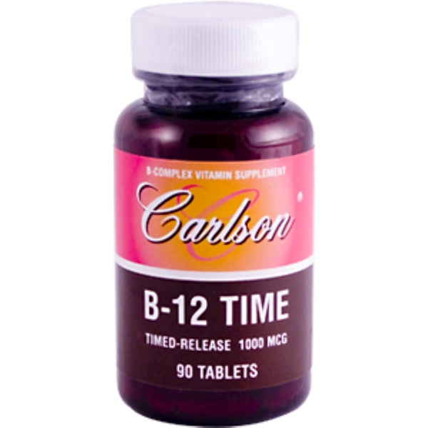 Carlson Labs, B-12 Time, Timed-Release, 1000 mcg, 90 Tablets (Discontinued Item)