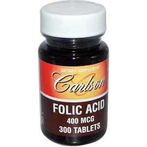 Карлсон Лэбс, Folic Acid, 400 mcg, 300 Tablets отзывы