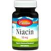 Carlson Labs, Niacin, 50 mg, 300 Tablets