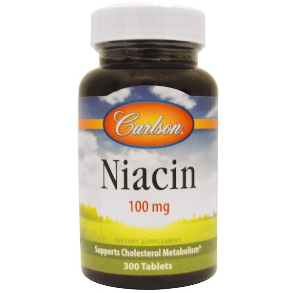 Carlson Labs, Niacin, 100 mg, 300 Tablets (Discontinued Item)