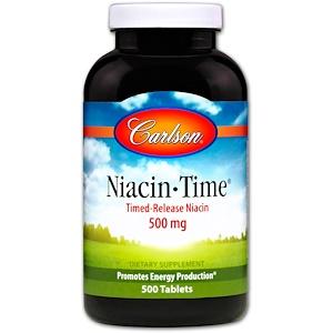 Карлсон Лэбс, Niacin-Time, 500 mg, 500 Tablets отзывы