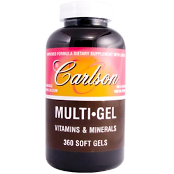 Carlson Labs, Multi Gel, Vitamins & Minerals, 360 Softgels (Discontinued Item)