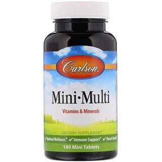 Carlson Labs, Mini-Multi, Vitamins & Minerals, Iron-Free, 180 Tablets