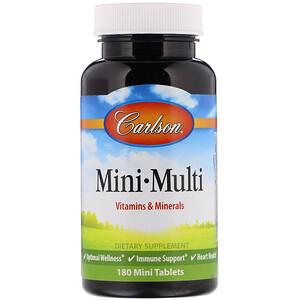 Карлсон Лэбс, Mini-Multi, Vitamins & Minerals, Iron-Free, 180 Tablets отзывы