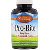 Carlson Labs, Pro-Rite, Free-Form L-Proline & L-Lysine, 180 Tablets