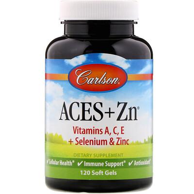 Купить Carlson Labs Aces + Zn, 120 мягких желатиновых капсул