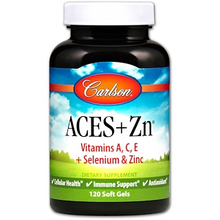 Carlson Labs, Aces + 鋅, 120粒軟膠囊