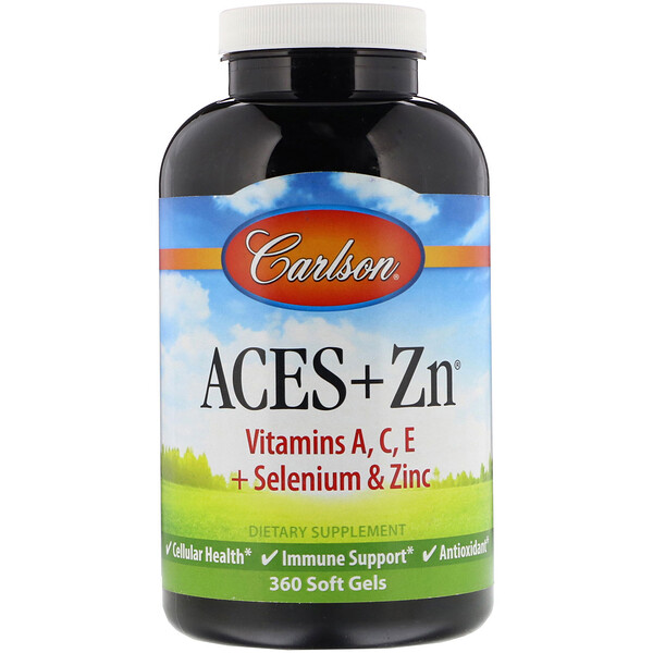 Carlson Labs, Aces + Zn, 360 capsules molles
