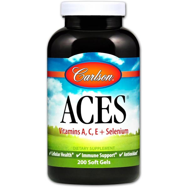 Carlson Labs, ACES, 200 Soft Gels (Discontinued Item)
