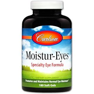 Carlson Labs, Moistur-Eyes, 180 Cápsulas Gelatinosas