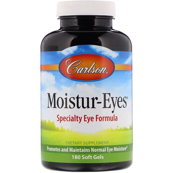 Carlson Labs, Moisture-Eyes, 180 Cápsulas de Gel Suave