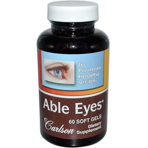 Carlson Labs, Able Eyes, 60 Soft Gels (Discontinued Item)