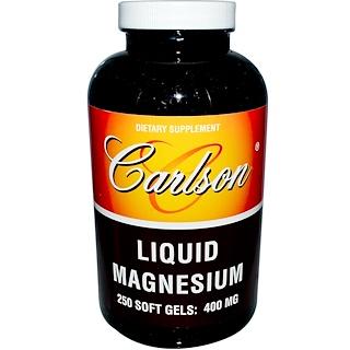 Carlson Labs, Liquid Magnesium, 400 mg, 250 Soft Gels