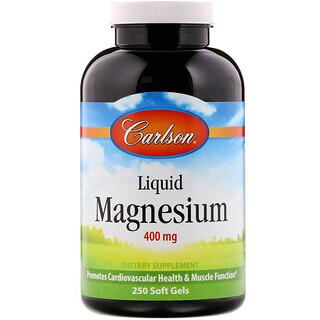 Carlson Labs, 液体マグネシウム、400mg、ソフトジェル250粒
