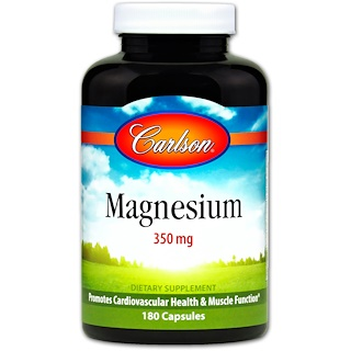 Carlson Labs, Magnesium, 350 mg, 180 Capsules
