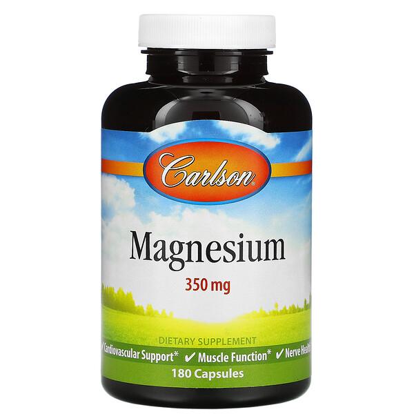 Magnesium, 350 mg, 180 Capsules