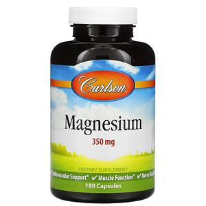 Карлсон Лэбс, Magnesium, 350 mg, 180 Capsules отзывы