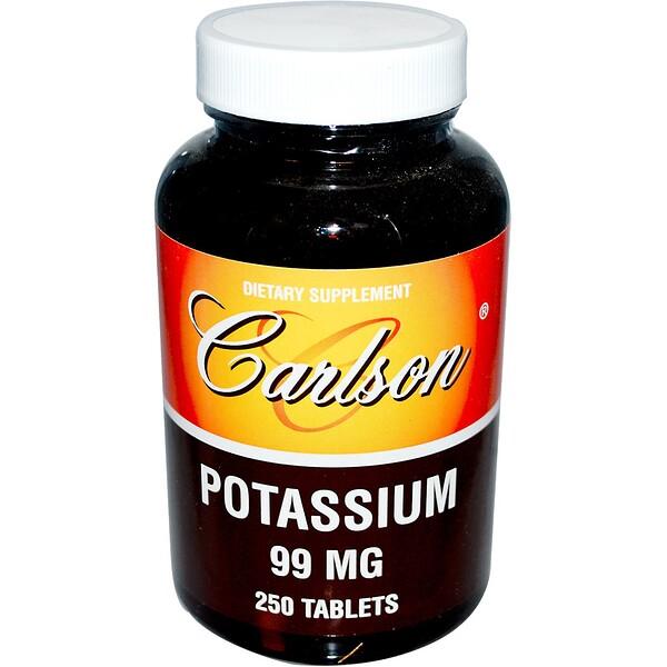 Carlson Labs, Potassium, 99 mg, 250 Tablets (Discontinued Item)