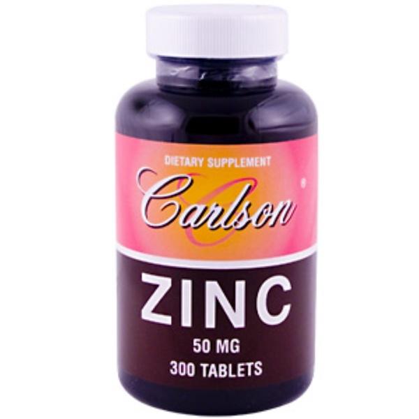 Carlson Labs, Zinc, 50 mg, 300 Tablets (Discontinued Item)
