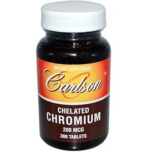 Carlson Labs, Хром Хелат 300 таблеток инструкция, применение, состав, противопоказания
