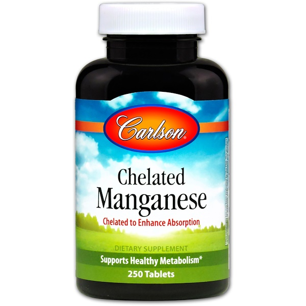 Carlson Labs, Chelated Manganese, 250 Tablets