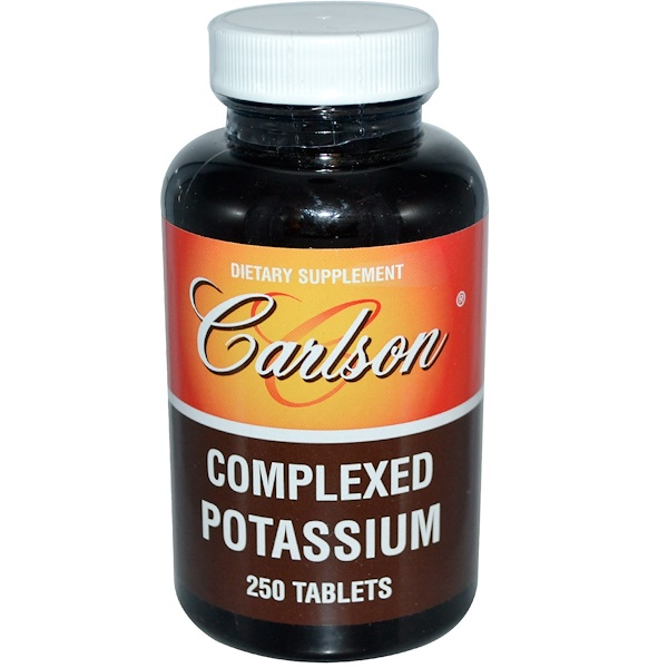 Carlson Labs, Complexed Potassium, 250 Tablets (Discontinued Item)