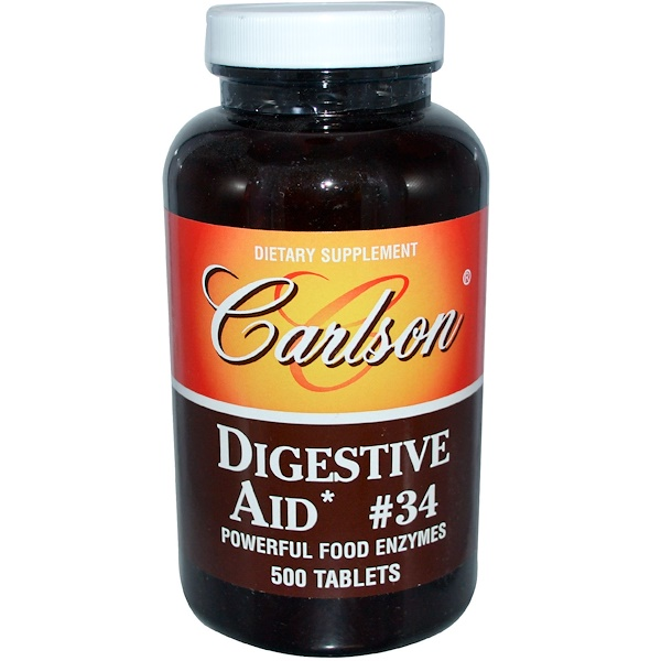 Carlson Labs, Digestive Aid #34, 500 Tablets (Discontinued Item)