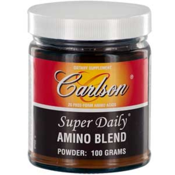Carlson Labs, Super Daily, Amino Blend, Powder, 100 g (Discontinued Item)