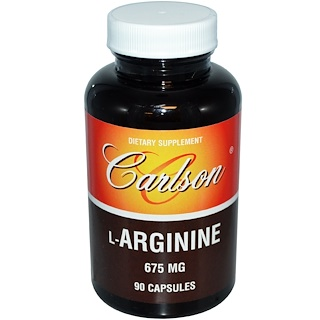 Carlson Labs, L-Arginine, 675 mg, 90 Capsules