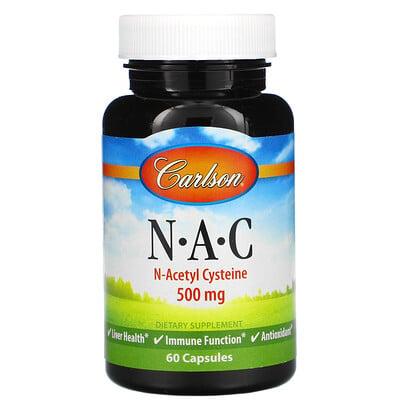 Купить Carlson Labs N-A-C, 500мг, 60капсул