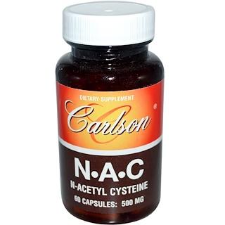 Carlson Labs, N-A-C, 500 mg, 60 Capsules