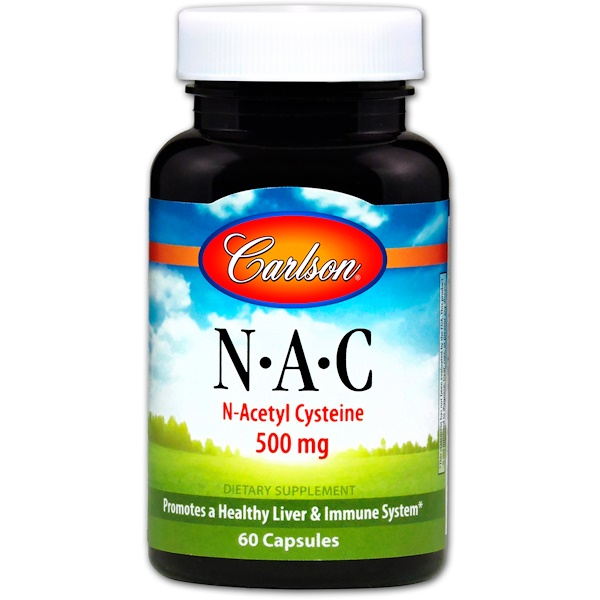 Carlson Labs, N·A·C, 500 mg, 60 정