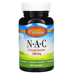 Карлсон Лэбс, N-A-C, 500 mg, 60 Capsules отзывы покупателей