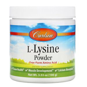 Карлсон Лэбс, L-Lysine, Amino Acid Powder, 3.53 oz (100 g) отзывы покупателей