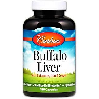 Carlson Labs, Fígado de Búfalo, 180 Cápsulas