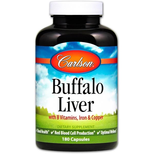 Carlson Labs, Buffalo Liver, 180 Capsules