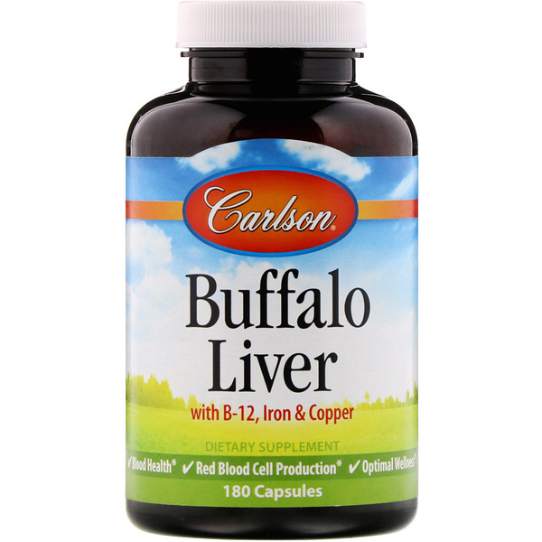 Carlson Labs, Buffalo Liver, 180 Capsules (Discontinued Item)